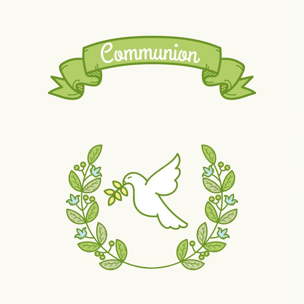 Communion Dessin Vert Bonbon France