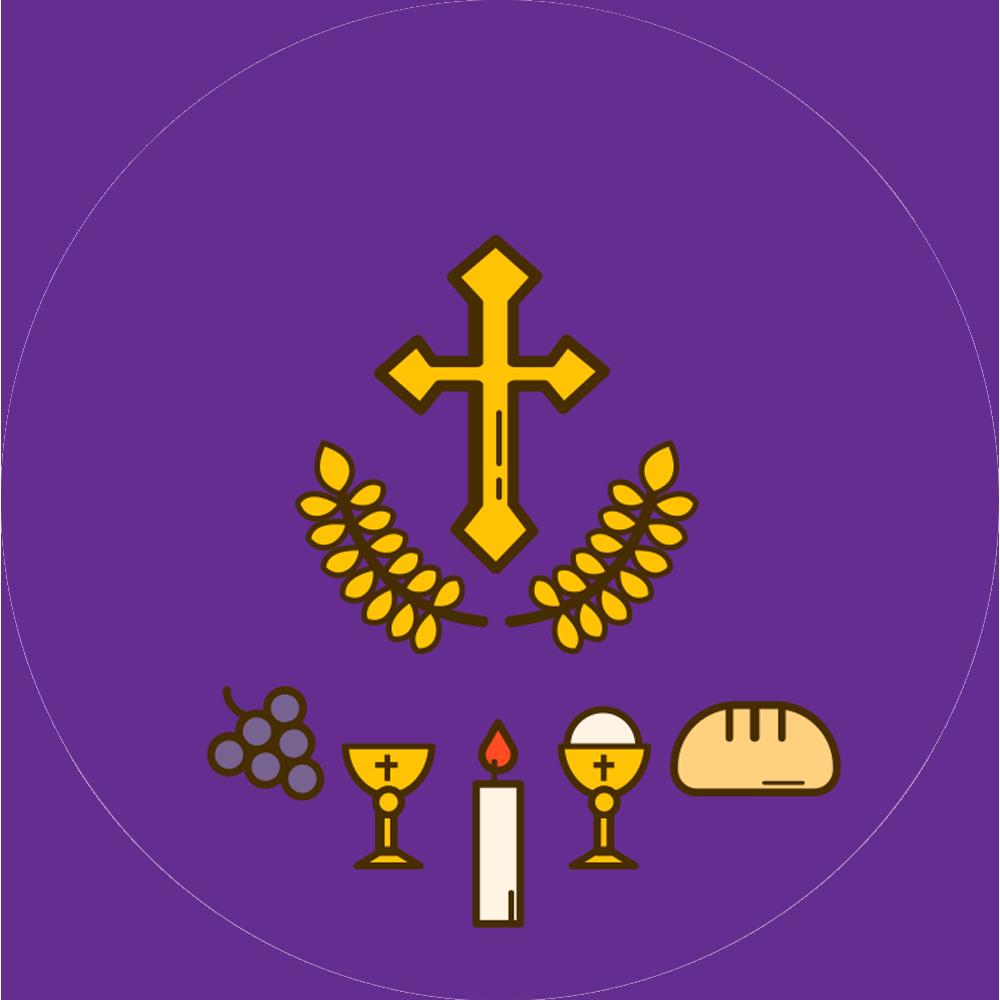 Communion Dessin Violet Bonbon France