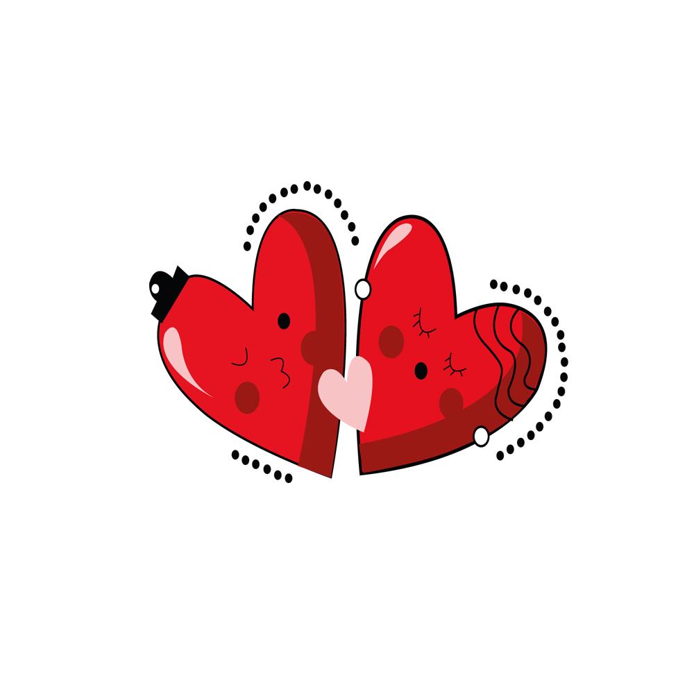 Petits Coeurs Rouge Bisou Bonbon France